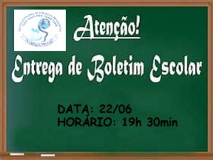 ENTREGA DE BOLETINS